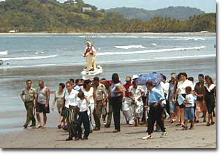Procession de la Virgen del Mar on Samara Beach